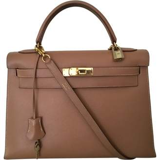 293f4b0d35ce38 Hermes Vintage Kelly 32 Camel Leather Handbag
