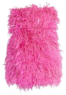 ATTICO Ostrich Feather Mini Dress