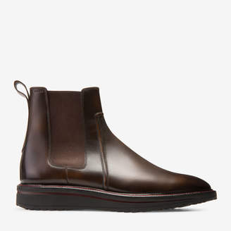 Bally Steph Brown, Men's plain calf leather Chelsea boot in mid brown