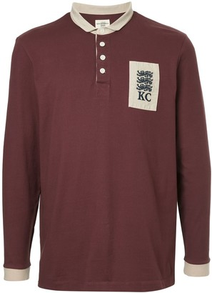 Kent & Curwen long-sleeve logo polo top