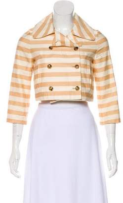 Opening Ceremony Striped Crop Jacket