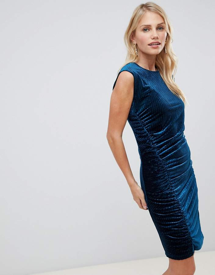 Y.A.S Velvur rouched velvet dress
