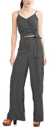 New Look Juniors' Printed Surplice Wrap Front Tank & Culottes Pant Set