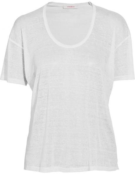 Vanessa Bruno Burnout linen T-shirt