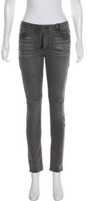 RtA Denim Distressed Mid-Rise Skinny Jeans