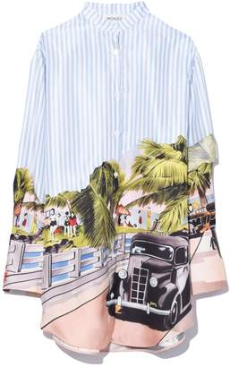 Monse Scenic Print Shirt in Multi