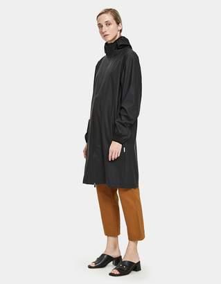 Rains Long Base Jacket in Black