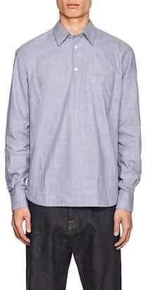 Barena Venezia Men's Slub-Effect Cotton Long-Sleeve Shirt