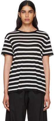 R 13 Black and White Striped Boy T-Shirt