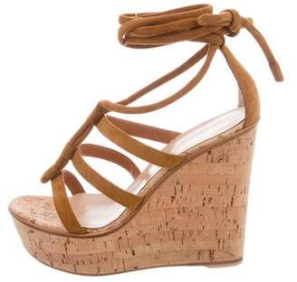 Gianvito Rossi Cayman Cork Wedge Sandals w/ Tags