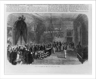 Monroe Snapshots of the Past Historic Print (L): Lying in State at the City Hall, New York [Funeral of Pres. James