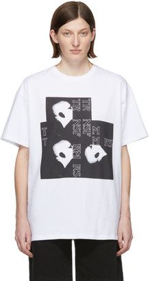 Raf Simons White Bald Head Big Fit T-Shirt