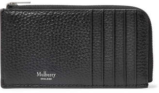 Mulberry Full-Grain Leather Zip-Around Cardholder - Black