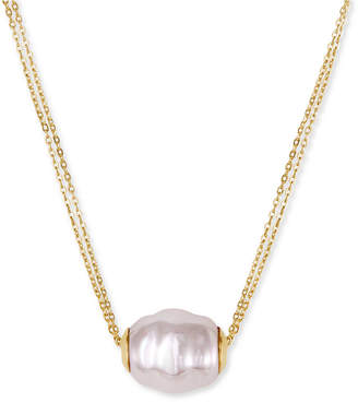 Majorica Vermeil Chain and Man-Made Pearl Pendant Necklace