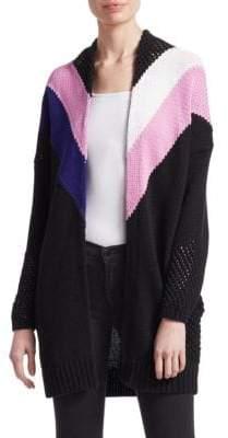 Maje Morgane Stripe Knit Cardigan