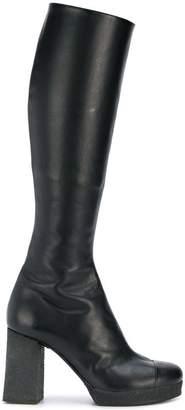 Chalayan knee high boots
