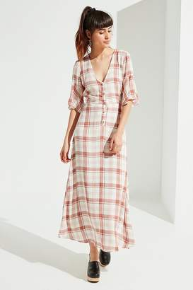 Urban Outfitters Plaid Button-Down Maxi Dress