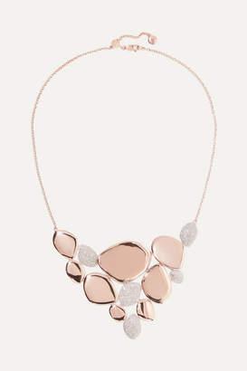 Monica Vinader Nura Rose Gold Vermeil Diamond Necklace