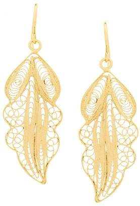 Wouters & Hendrix filigree leaf earrings