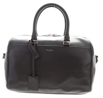 Saint Laurent Leather Satchel Bag Grey Leather Satchel Bag