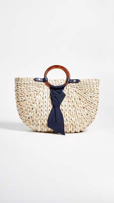 PAMELA MUNSON The Bimini Crescent Tote Bag