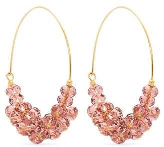 Isabel Marant Rosewood Bead Embellished Hoop Earrings - Womens - Pink