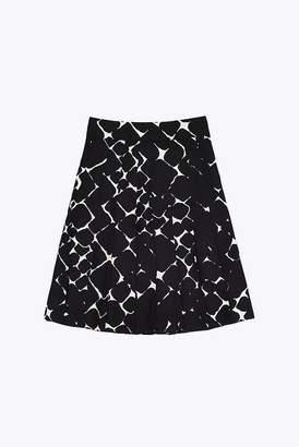Marc Jacobs Silk Abstract Diamond Pleated Skirt