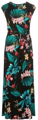 Dorothy Perkins Womens Multi Colour Tropical Print Maxi Dress