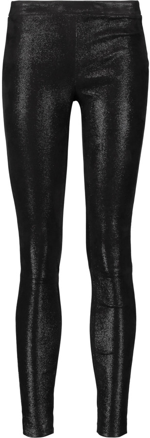 J Brand J Brand Edita glittered stretch-leather leggings