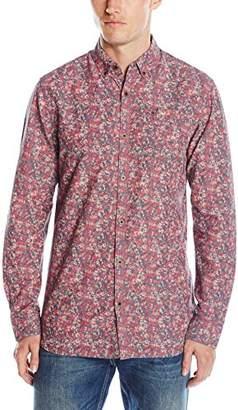 Tommy Hilfiger Men's Long Sleeve Print Button Down Shirt