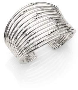 John Hardy Bamboo Sterling Silver Wide Cuff Bracelet