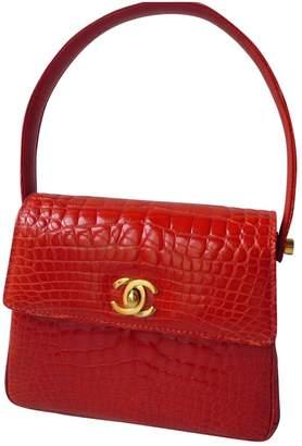 Chanel Vintage Red Crocodile Handbag