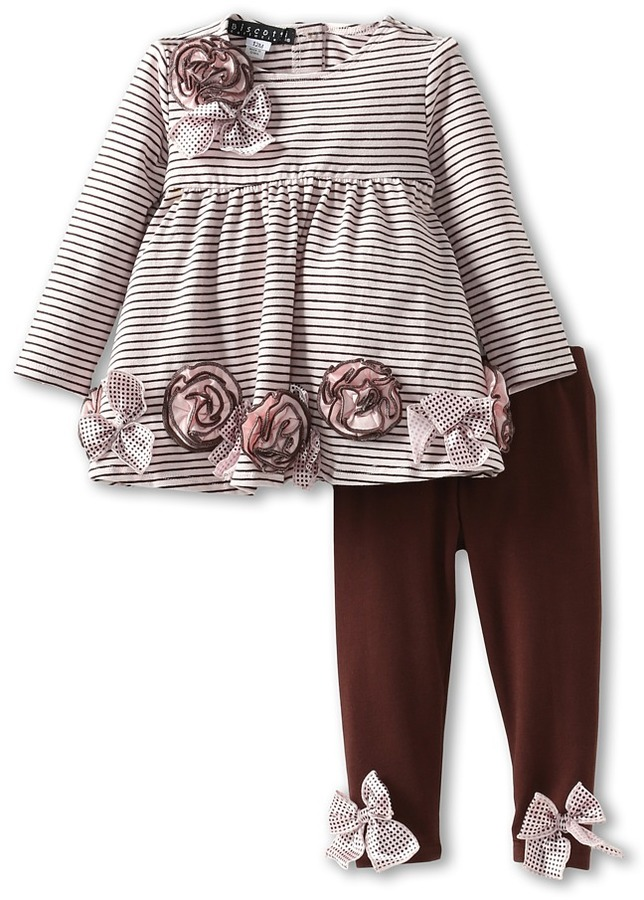 Biscotti Party Mix Tunic Legging (Infant) (Pink) - Apparel