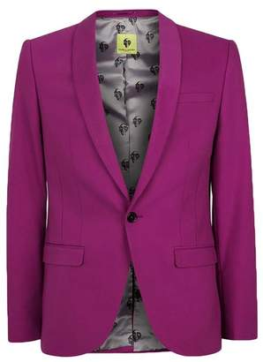 NOOSE & MONKEY Pink Skinny Fit Suit Jacket $220 thestylecure.com