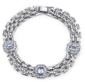 JCPenney 1928 Jewelry Crystal and Light Blue Stone Line Bracelet