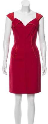 Zac Posen Sleeveless Wool Dress