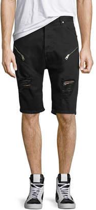 Just Cavalli Distressed Jean Shorts