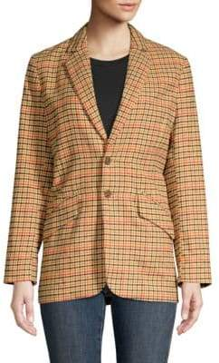 Current/Elliott Date Night Plaid Blazer