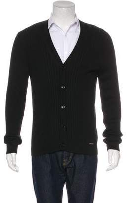 Burberry Wool-Blend V-Neck Cardigan