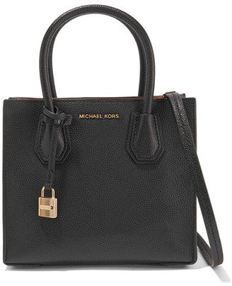 MICHAEL Michael Kors - Mercer Small Textured-leather Tote - Black $260 thestylecure.com