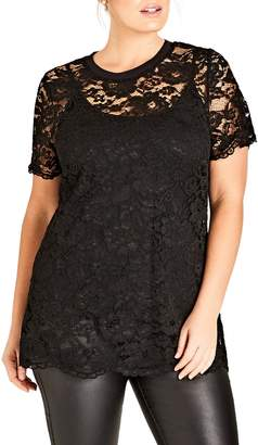 City Chic Lace Tee