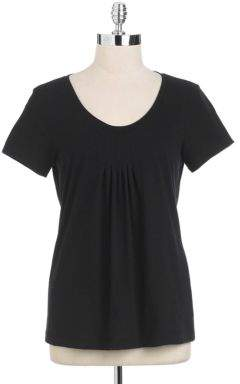 Lord & Taylor Short Sleeved Scoopneck Tee