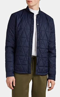 Aztech Mountain Men's Corkscrew Quilted Shirt Jacket - Dk. Blue