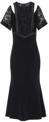 David Koma Cotton-blend dress