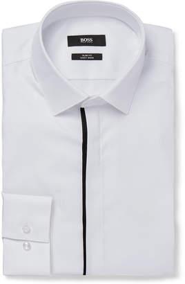 HUGO BOSS White Jamis Slim-Fit Cutaway-Collar Cotton Shirt