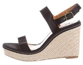 Lanvin Satin Espadrille Wedges