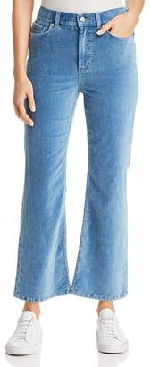 Rebecca Taylor Ines Kick Boot Jeans in Mid Tone Indigo