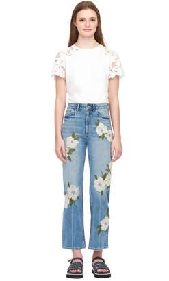 Rebecca Taylor La Vie Floral Embroidered Anais Jean