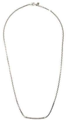 David Yurman Diamond Petite Pavé Metro Chain Necklace