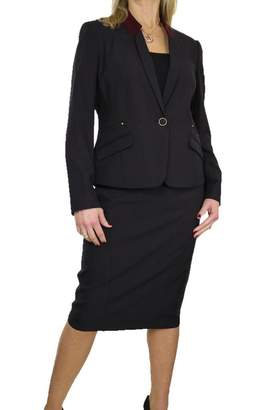 Ice 6399-1) Smart Washable Fully Lined Business Evening Skirt Suit